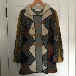 Anthropologie Knit Sweater Coat
